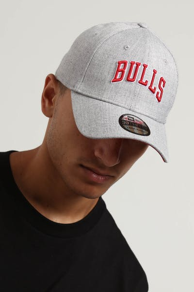 New Era Chicago Bulls 39THIRTY Stretchfit Heather Grey
