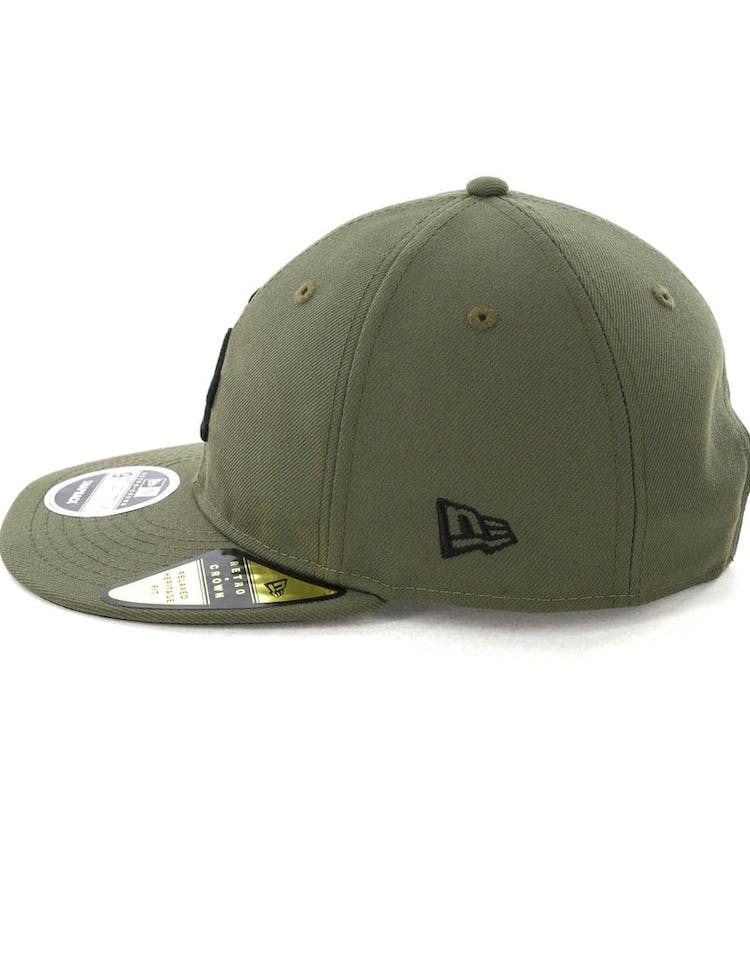 new product 10848 30853 New Era Dodgers 9FIFTY Retro Crown Snapback Olive