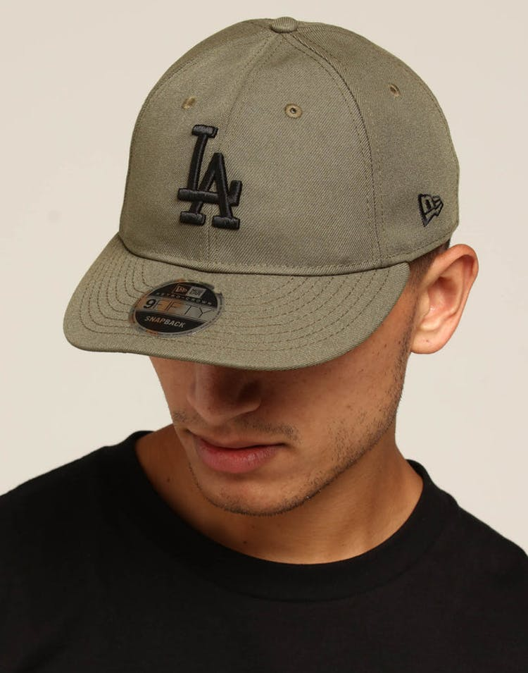 8b038a09 New Era Dodgers 9FIFTY Retro Crown Snapback Olive – Culture Kings