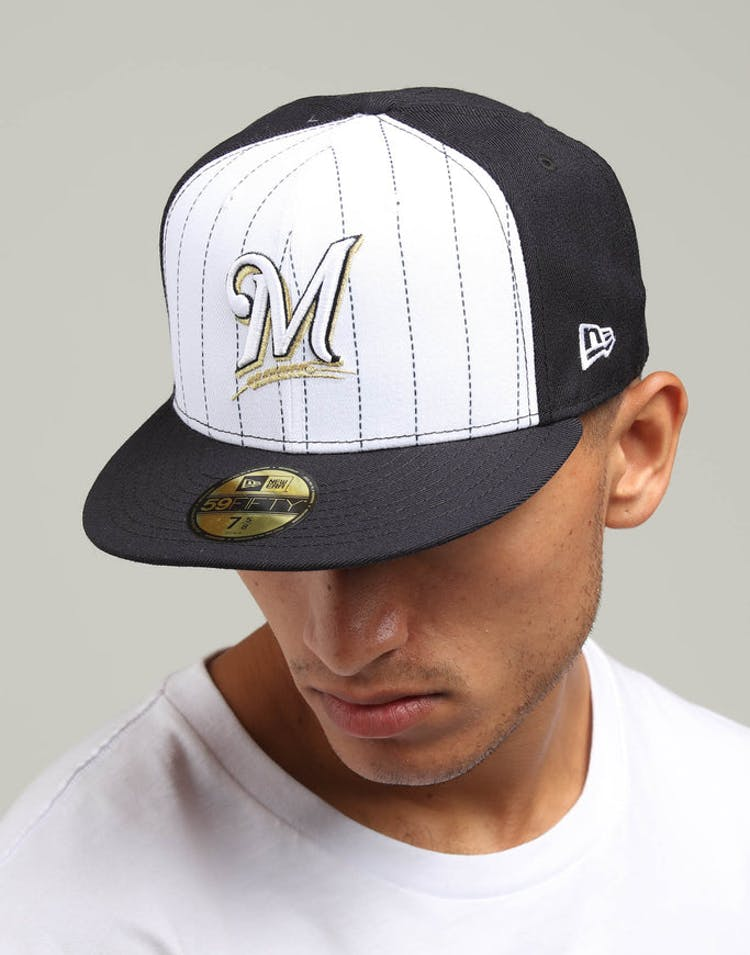 new arrival dbf37 b0601 New Era Milwaukee Brewers 59FIFTY Fitted Navy White – Culture Kings