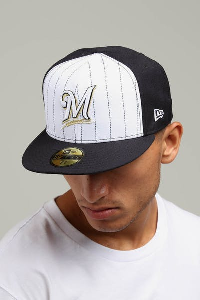 New Era Milwaukee Brewers 59FIFTY Fitted Navy/White