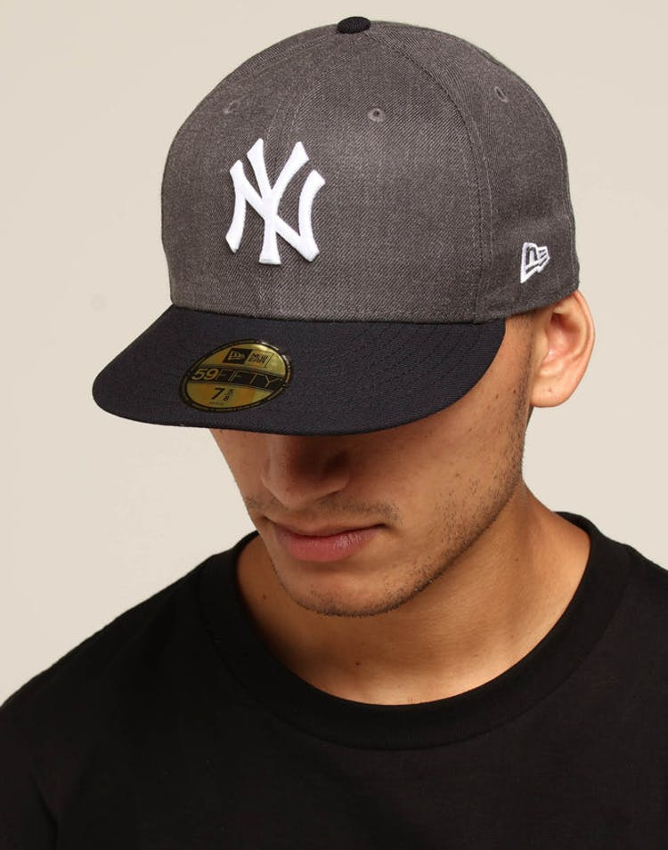 ec2efd3b91e40 New Era New York Yankees 59FIFTY Fitted Graphite Heather – Culture Kings