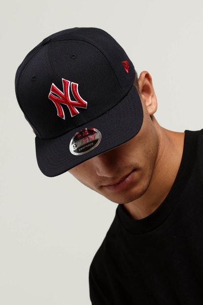 223d33a0d7d7 New Era New York Yankees 9FIFTY Original Fit Snapback Navy Red