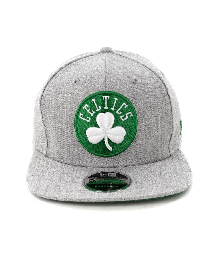 buy online c72de 36d44 New Era Boston Celtics 9FIFTY Original Fit Snapback Heather Grey