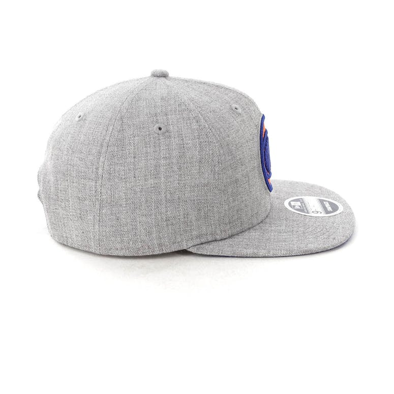 New Era New York Knicks 9FIFTY Original Fit Snapback Heather Grey