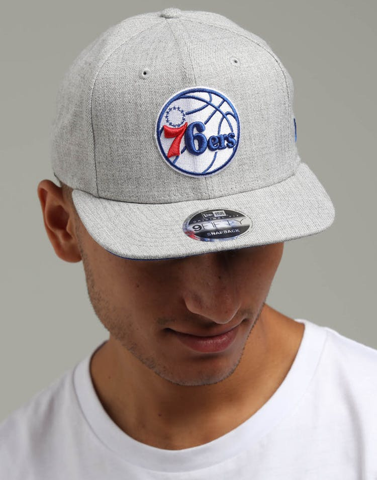 714f935d89bc8d New Era Philadelphia 76ers 9FIFTY Original Fit Snapback Heather Grey –  Culture Kings