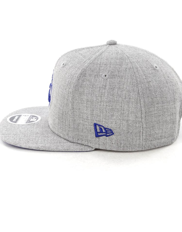 c94ffb00a50679 New Era Philadelphia 76ers 9FIFTY Original Fit Snapback Heather Grey ...