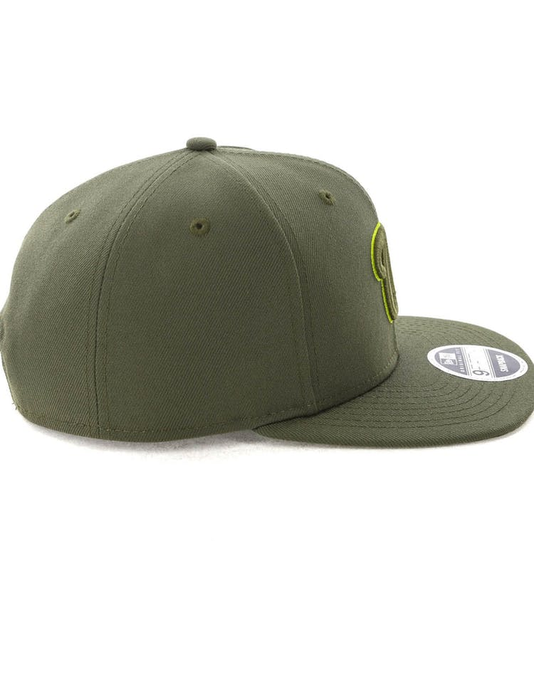 cheaper a20bc 35736 New Era Washington Nationals 9FIFTy Original Fit Olive Lime