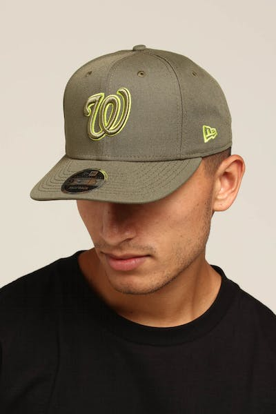 New Era Washington Nationals 9FIFTy Original Fit Olive/Lime
