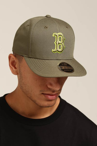 New Era Boston Red Sox 9FIFTY Original Fit Olive/Lime
