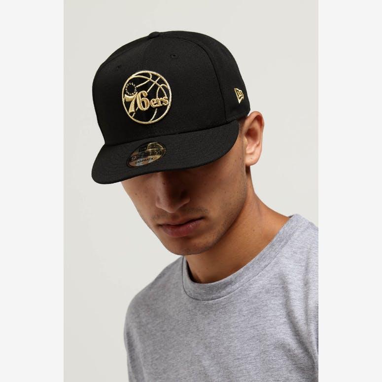 New Era Philadelphia 76ers 9FIFTY Snapback Black Gold – Culture Kings eff5aea64535