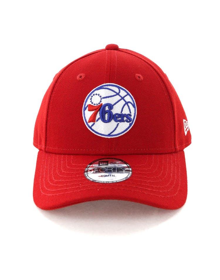 buy online 7997c 62795 New Era Youth Philadelphia 76ers 9FORTY Hook N Loop Scarlet – Culture Kings