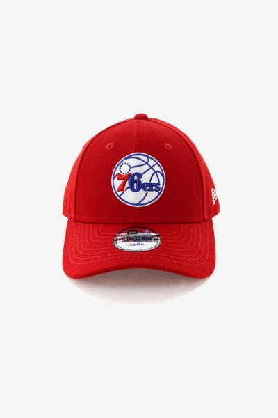New Era Youth Philadelphia 76ers 9FORTY Hook N Loop Scarlet