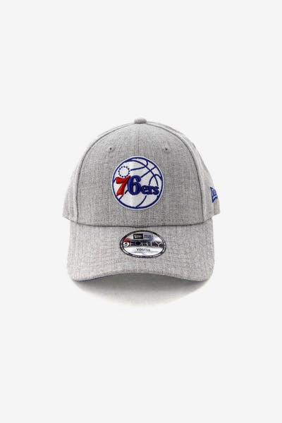 New Era Kids Philadelphia 76ers 9FORTY Strapback Heather Grey