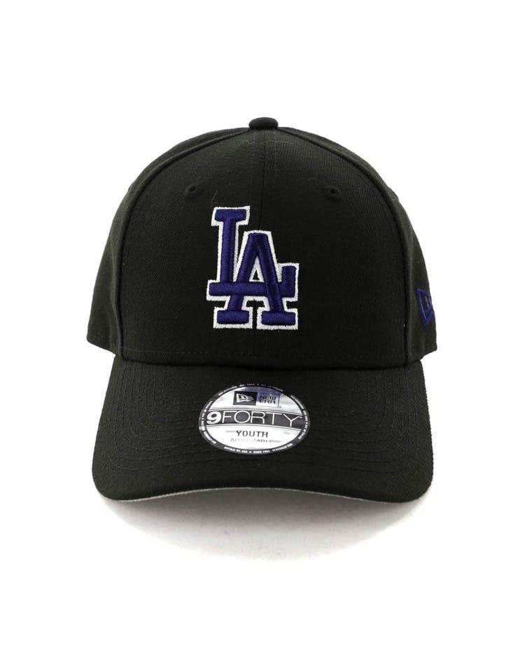 4077f3c3 New Era Kids Los Angeles Dodgers 9FORTY Strapback Black