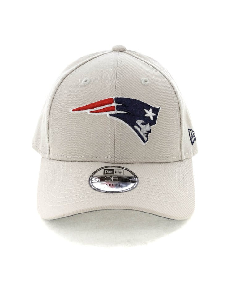 best sneakers 4defa 3e9b9 New Era Youth New England Patriots 9FORTY HookNLoop Stone – Culture Kings