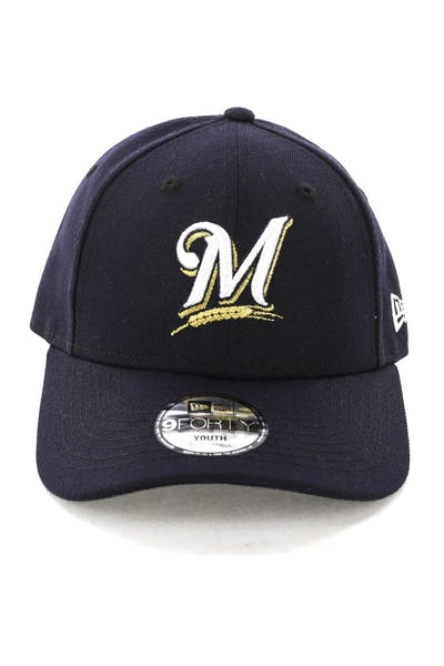 New Era Youth Milwaukee Brewers 9FORTY HookNLoop Navy