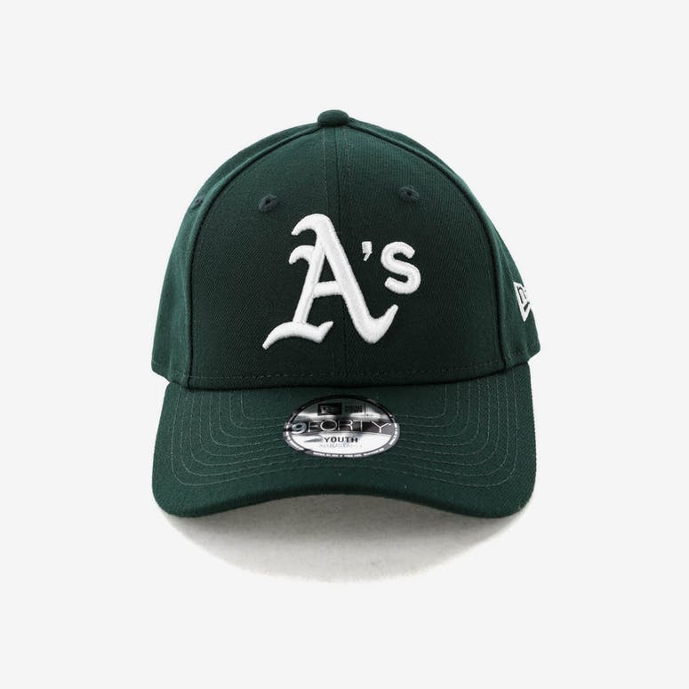 a6d3899a658 New Era Youth Oakland Athletics 9FORTY HookNLoop Dark Green – Culture Kings