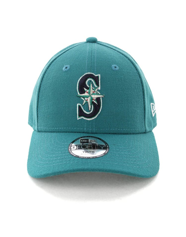 f90c6ffdf3d3 New Era Youth Seattle Mariners 9FORTY Hook N Loop Green – Culture Kings