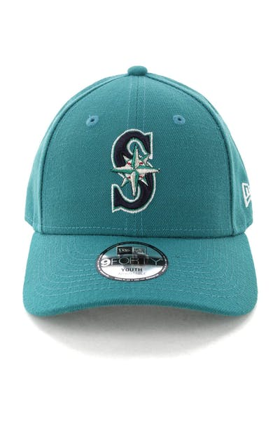 New Era Youth Seattle Mariners 9FORTY Hook N Loop Green