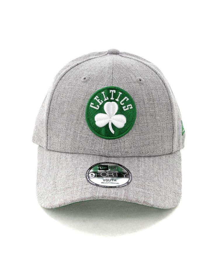 394583d3 New Era Kids Boston Celtics 9FORTY Strapback Heather Grey