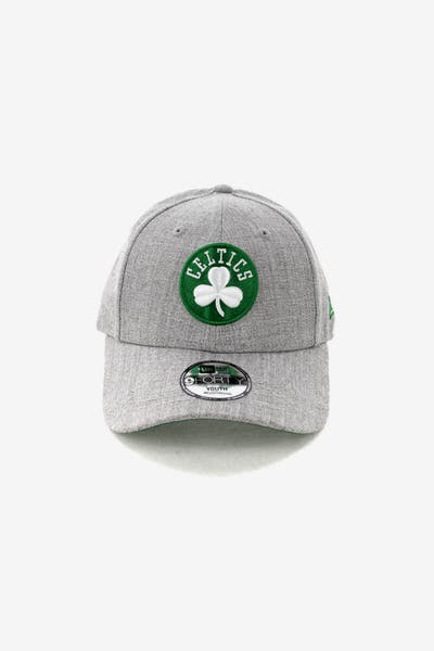 New Era Kids Boston Celtics 9FORTY Strapback Heather Grey
