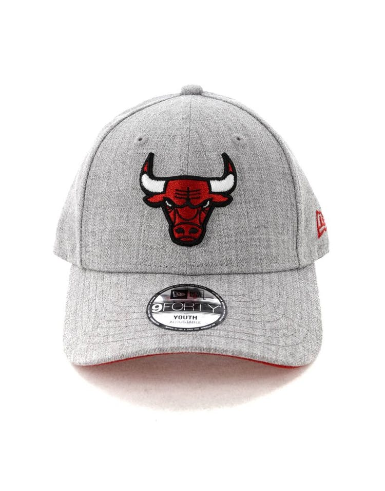 22deb7fc20262c New Era Kids Chicago Bulls 9FORTY Strapback Heather Grey – Culture Kings