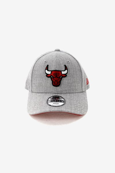 New Era Kids Chicago Bulls 9FORTY Strapback Heather Grey