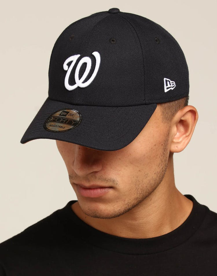 buy online 218fa 0c268 New Era Washington Nationals 9FORTY Snapback Navy White – Culture Kings