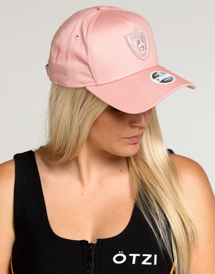 c6e6b310 New Era Women's Raiders 9FORTY A-Frame Strapback Dusty Pink/Stone – Culture  Kings