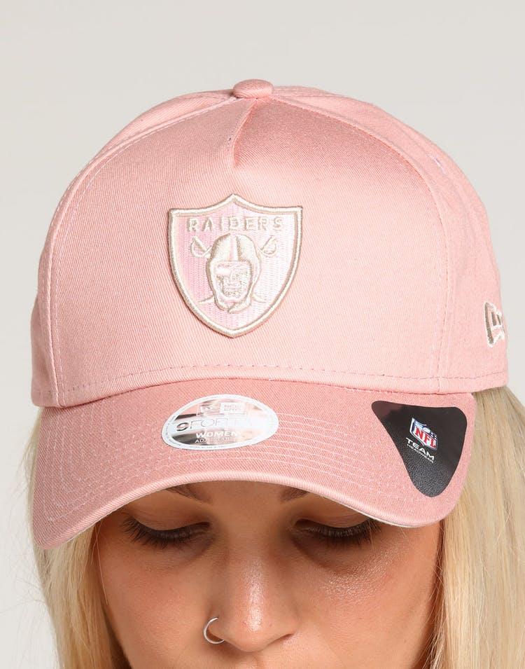 4c3e410a7 New Era Women's Raiders 9FORTY A-Frame Strapback Dusty Pink/Stone