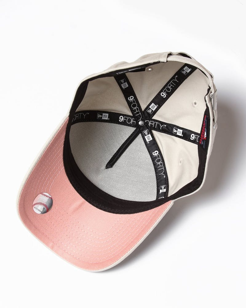New Era Women's Los Angeles Dodgers 9FORTY A-Frame Strapback Stone/Dusty Pink