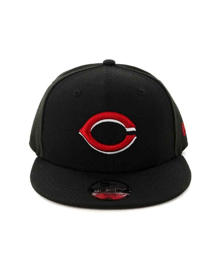 newest 482dd e1f66 New Era Kids Cincinnati Reds 9FIFTY Snapback Black – Culture Kings