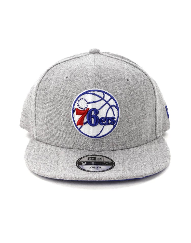 purchase cheap a158c f4edc New Era Youth Philadelphia 76ers 9FIFTY Snapback Heather Grey – Culture  Kings