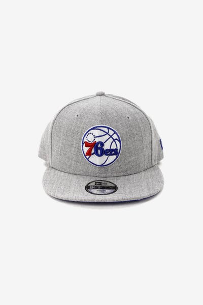 New Era Youth Philadelphia 76ers 9FIFTY Snapback Heather Grey