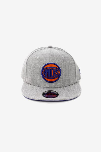b11f71ed4e6 New Era Youth New York Knicks 9FIFTY Snapback Heather Grey