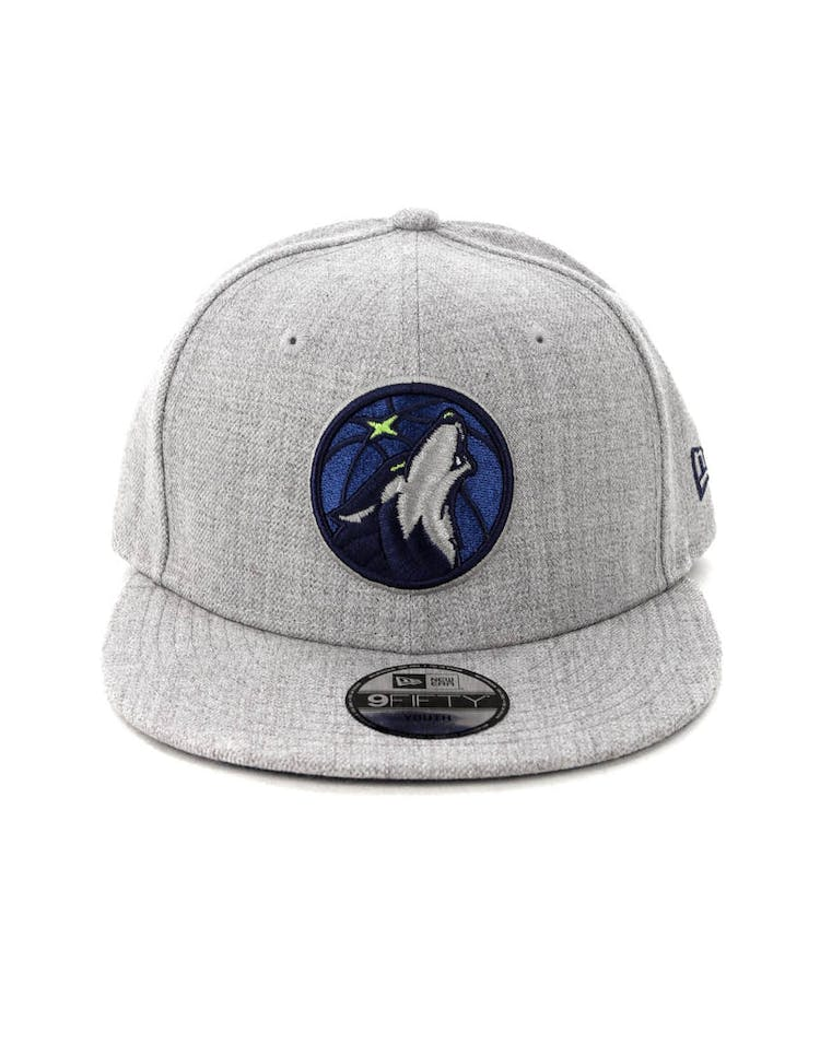 ac20bc72 New Era Youth Minnesota Timberwolves 9FIFTY Snapback Heather Grey – Culture  Kings