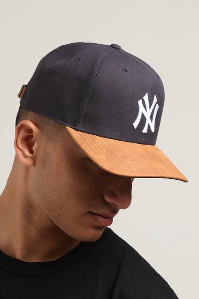 c0796ccafb250 47 Brand New York Yankees Tannery 2 Tone MVP DP Strapback Navy Tan