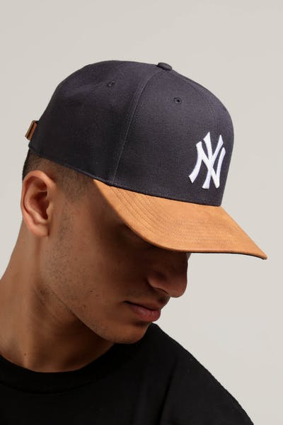 47 Brand New York Yankees Tannery 2 Tone MVP DP Strapback Navy/Tan