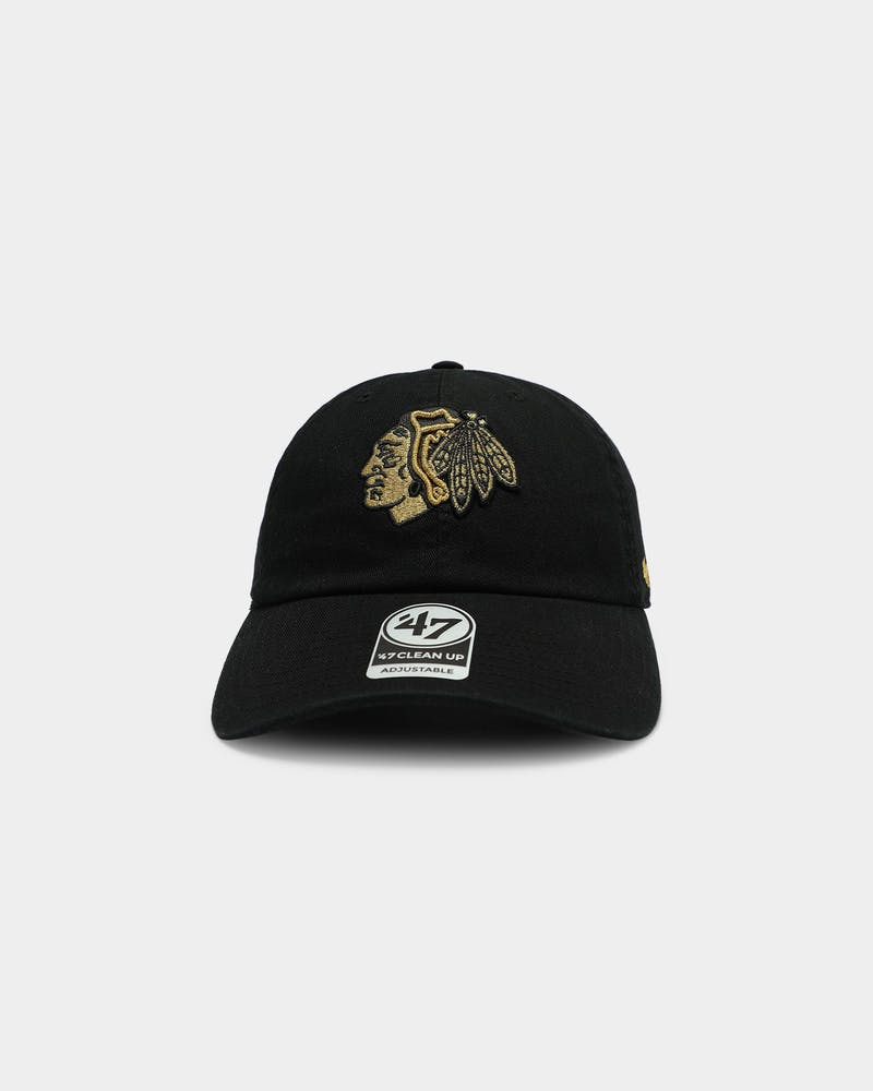 47 Brand Chicago Blackhawks Clean Up Stapback Black/Gold