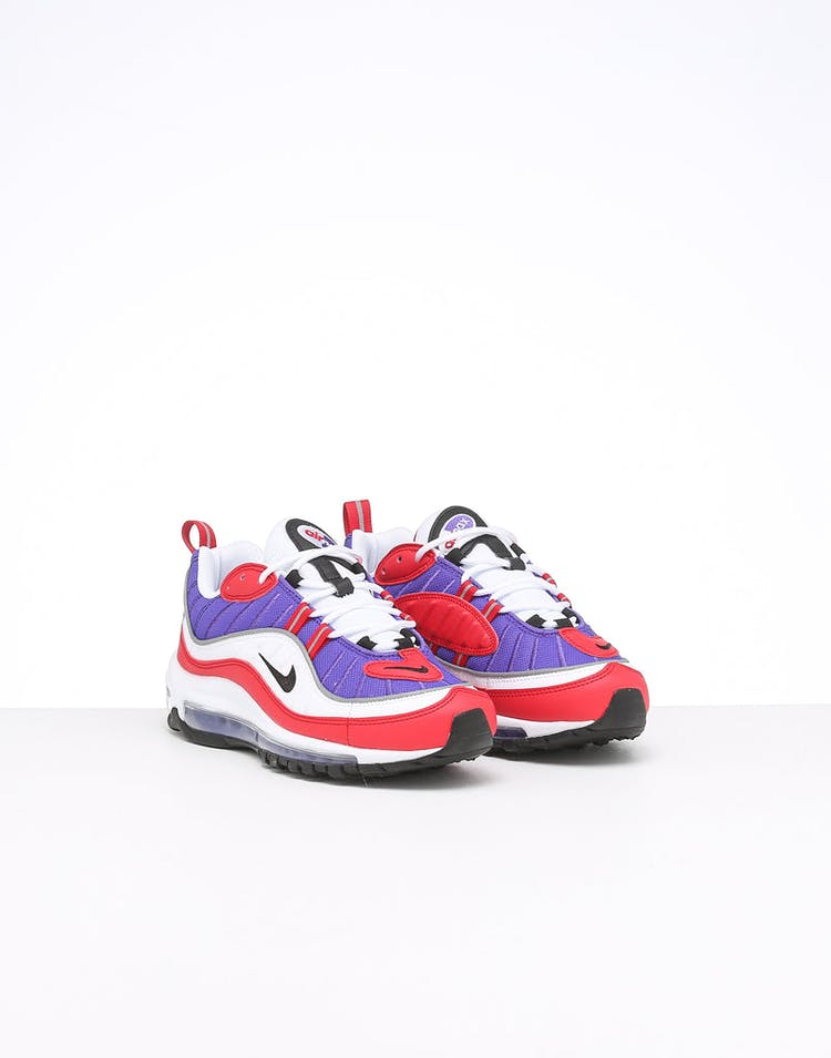 size 40 775eb dd313 Nike Women's Air Max 98 Purple/White/Red