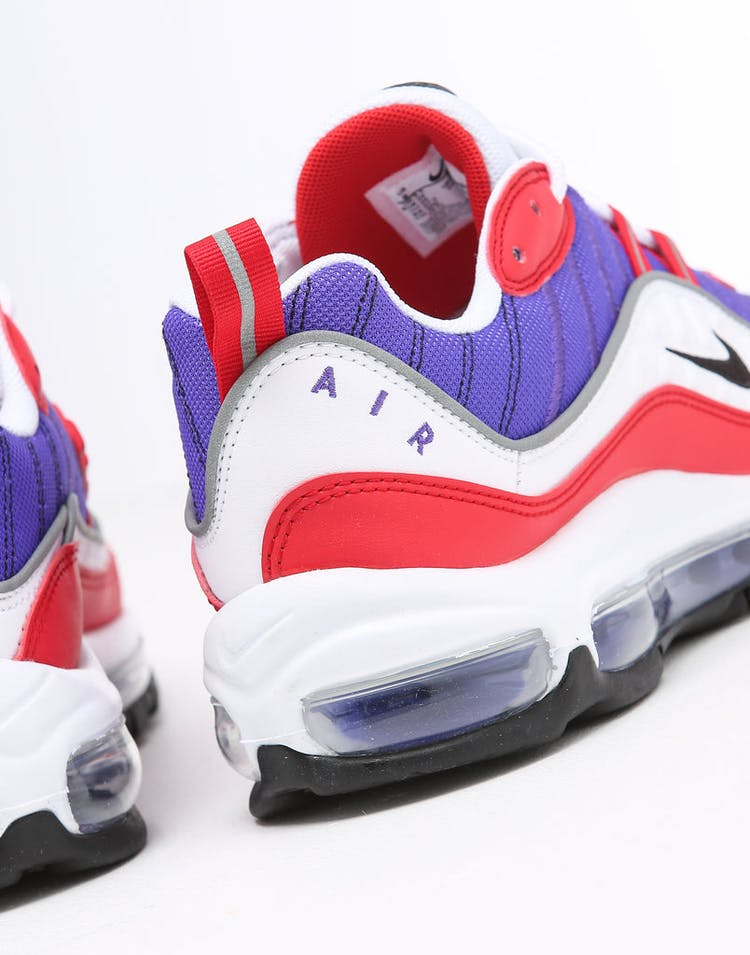 size 40 fe969 45ac9 Nike Women's Air Max 98 Purple/White/Red