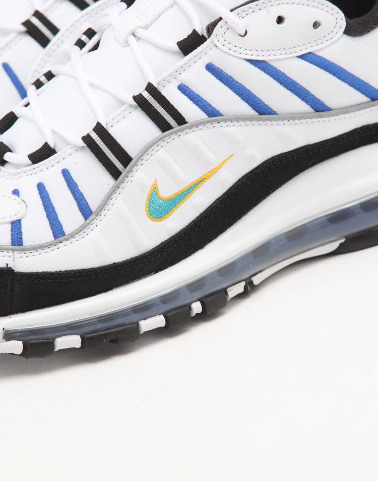 shop best sellers large discount detailed images Nike Air Max 98 Premium White/Multi-Coloured