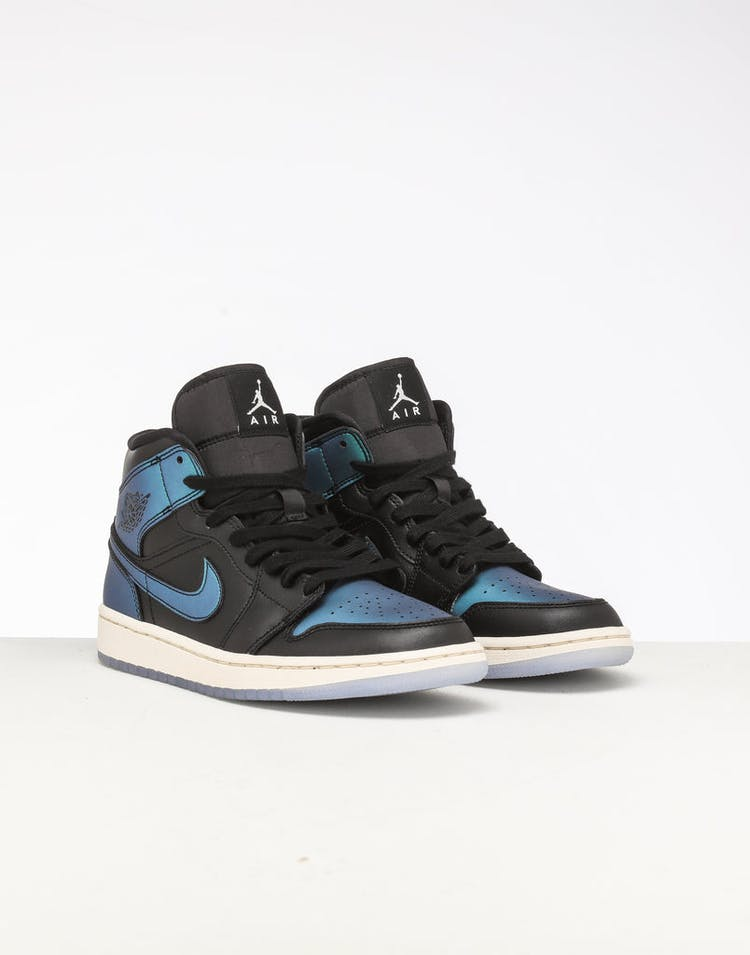 reputable site check out new list Jordan Women's Air Jordan 1 Mid Black/Multi-Coloured