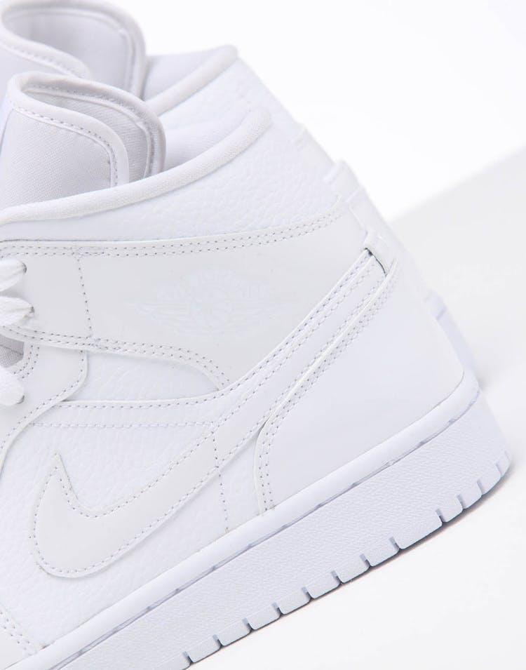 big sale 67477 340cd Jordan Women's Air Jordan 1 Mid White/White/White