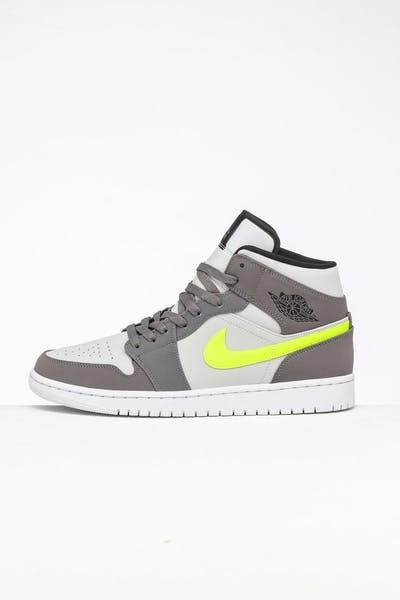 Jordan Air Jordan 1 Mid Gunsmoke/Volt/Grey