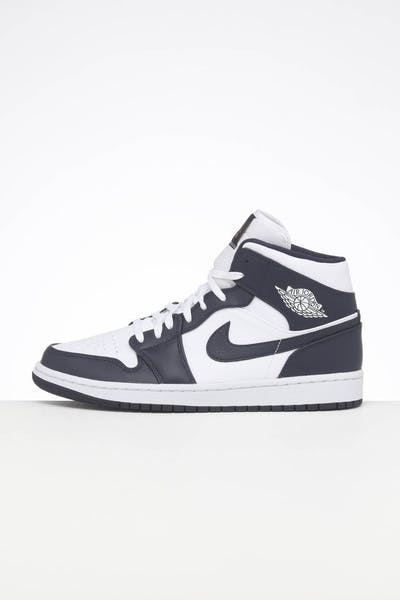 Jordan Air Jordan 1 Mid White/Obsidian/Metallic Gold