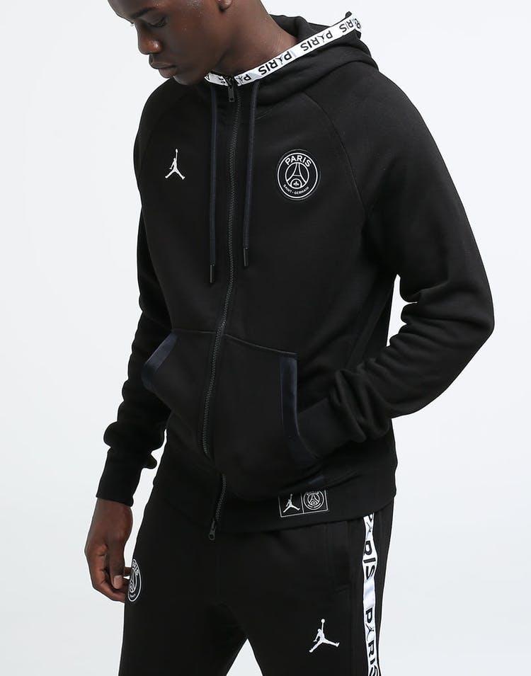 los angeles 12350 ecce4 Jordan X Paris Saint-Germain BC Fleece Fullzip Black