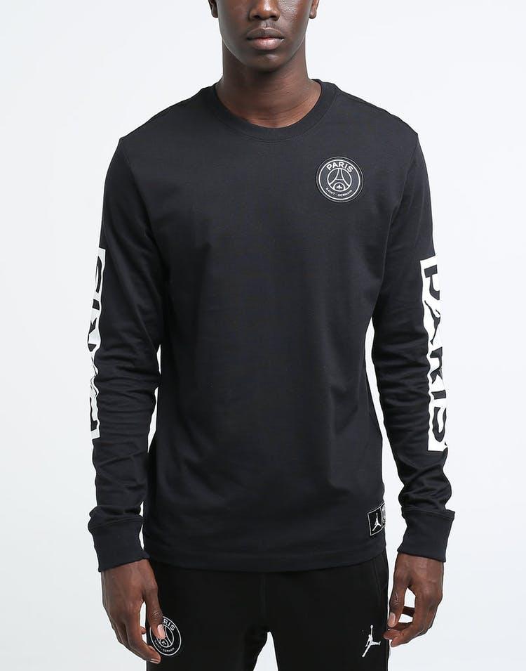 best sale meet new styles Jordan X Paris Saint-Germain LS Tee Black/White