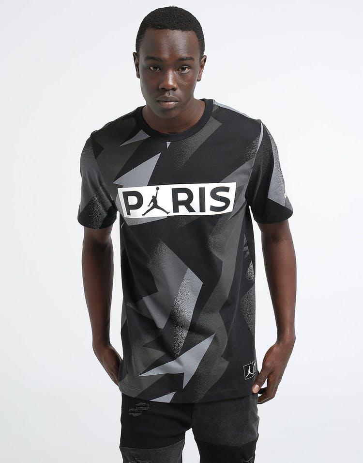 promo code b5fe4 2fc58 Jordan X Paris Saint-Germain SS Jock Tag Tee Black
